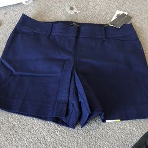 The limited blue shorts size 8